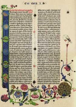 Gutenbergbibel der Staatsbibliothek Genesis